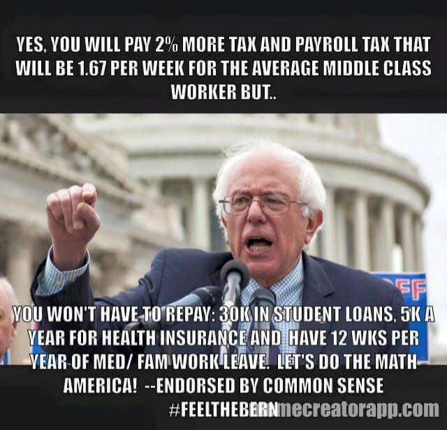bernie- tax increase