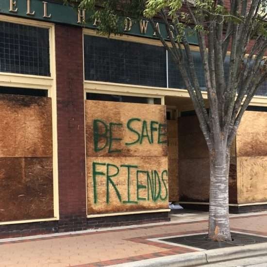 downtown business boarded up before hurricane florence in new bern nc in 2018