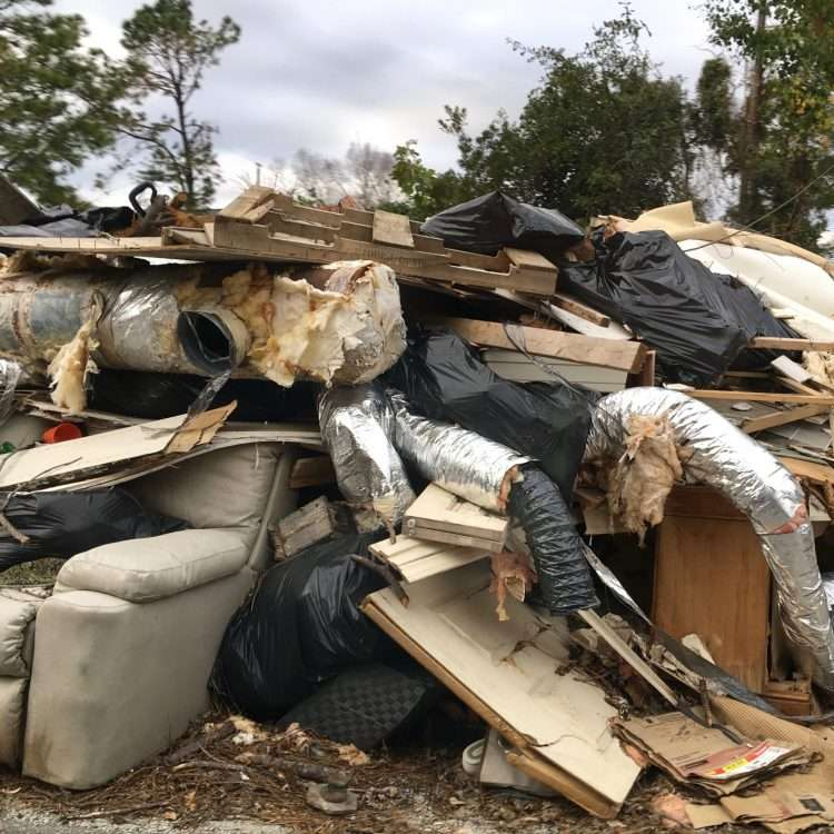 household destruction after hurricane florence