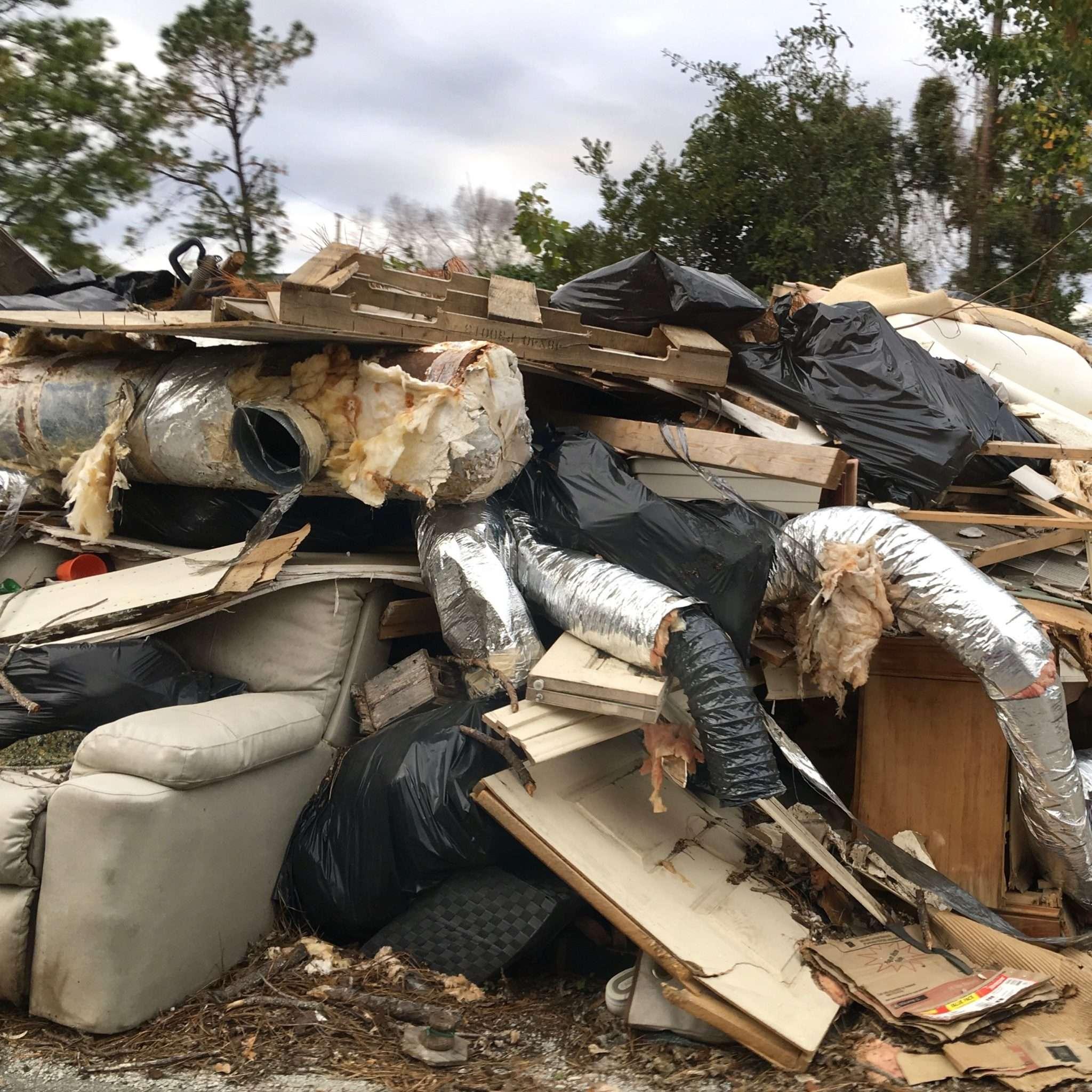 household destruction after hurricane florence